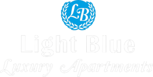 Light blue hotel